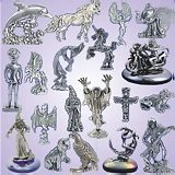 Wholesale Lead Free Pewter Figurines & Glass Bases