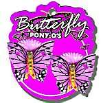 BUTTERFLY PAINTED PONY TAIL HOLDER