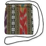Guatemalan style fabric zipper purse wholesale