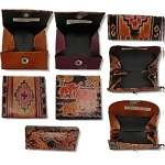 Leather Painted change purses with snaps